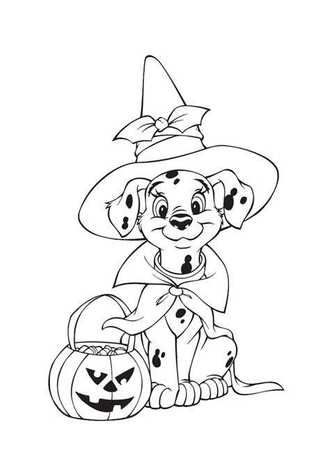 halloween coloring pages dog print it