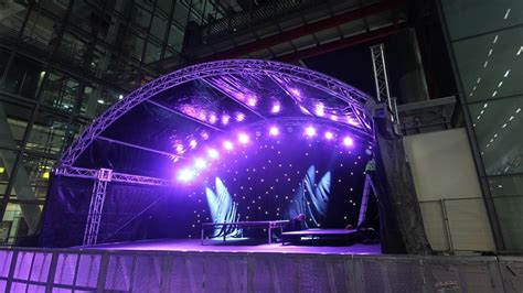 Outdoor Stage Lighting Outdoor Stage Hire Arched Roof Structures From Sxs Events