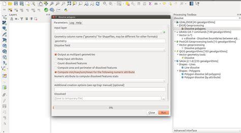 qgis modeler tutorial qgis processing modeler how to dissolve a vector layer