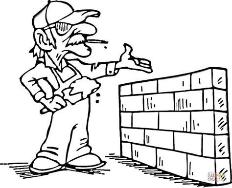 brick coloring page coloring page for kids