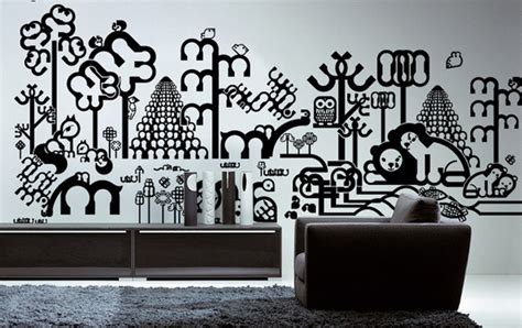 wall sticker designs 20 creative contemporary vinyl wall sticker designs hongkiat