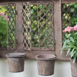 Metal Outdoor Planters Rustic Metal Outdoor Wall Mirrored Garden Planter Plant