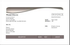 performance invoice template performance invoice template for excel excel
