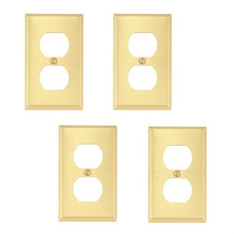 Outet Set brushed brass switchplates outlet set of 4
