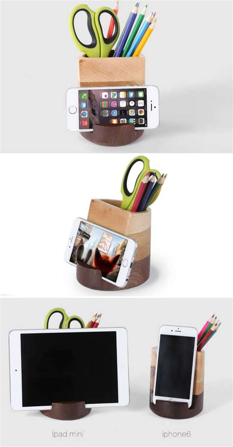 desk phone stand organizer wooden cell phone holder desk organizer yr 11 tidy
