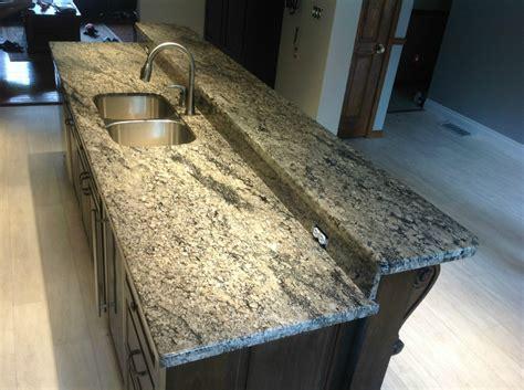 Radius Countertop Edge by Coral Gold Granite With 3 8 Radius Edge Profile