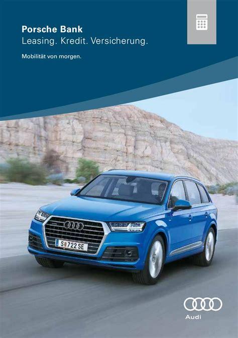 Audi Versicherung by Audi Finanzierung Und Versicherung Austria 2017 By