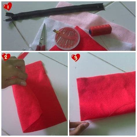 Kotak Pensil Flanel cara membuat kotak pensil dari kain flanel