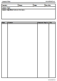 lesson plan template for esl teachers esl certificates lesson plan templates attendance sheets