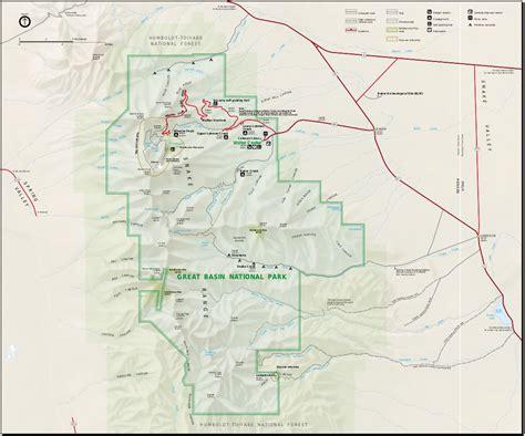 great basin usa map map of great basin national park worldofmaps net