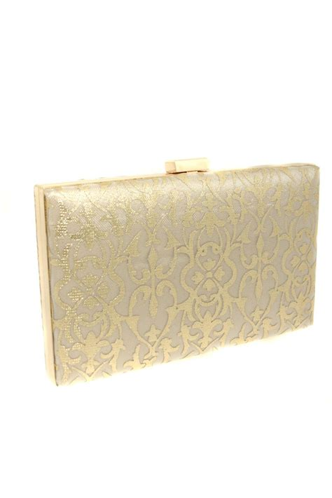 Vintage Lace Clutch From Again Nyc by Gold Lace Clutch Baroque Patterned Bag