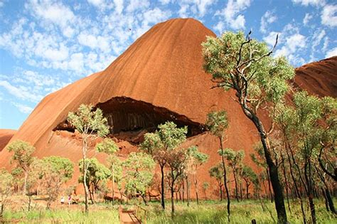 Uluru Ayers Rock formations Northern Territory central ...