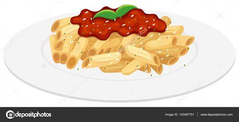 Pasta Clipart Illustrazione Pasta Al Pomodoro Piatto Di Pasta Di