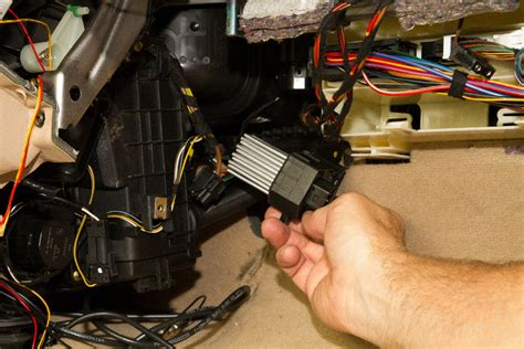 replacing the stage unit blower resistor on a bmw