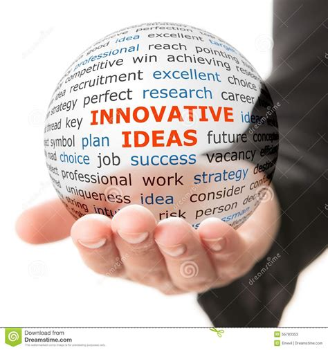 ideas in concept of innovative ideas in business stock illustration