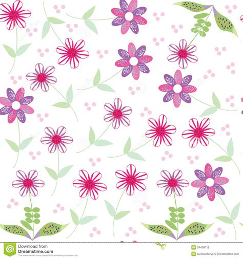 cute seamless pattern wallpaper floral seamless pattern with cute abstract flower stock