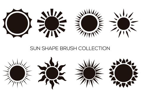 shape pattern brushes photoshop sun shape brush collection free photoshop brushes at