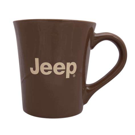 Jeep Coffee Mug All Things Jeep Jeep Logo 16 Oz Coffee Mug Brown