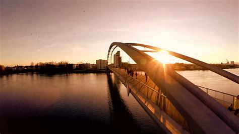 Epic Bridges by Sunset Dusk Sun Flare Carless Timeless Beautiful Amazing Epic Bridge Lake River Stock