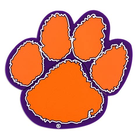 tiger paw template clemson tiger paw clip cliparts co