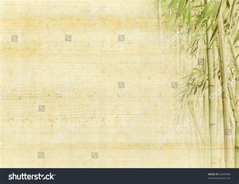 ancient background bamboo japanese manuscript stock photo 93694966