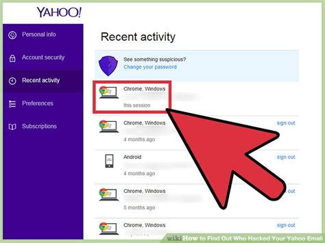 yahoo email password hack in seconds how to find out who hacked your yahoo email 9 steps