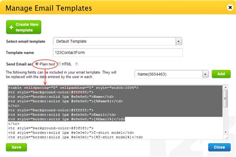 it notification email template customizing the email notification content 123contactform