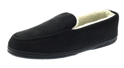 mens fur lined moccasin slippers mens moccasins faux suede slippers warm winter faux fur
