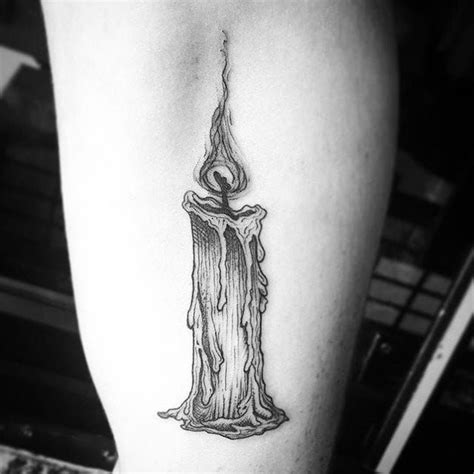 candle tattoo designs amazing linework candle by candletattoo