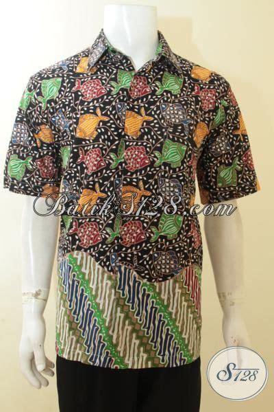 Kemeja Batik Anak Premium 44 baju batik halus khas anak muda kemeja batik motif ikan dasar hitam keren dan elegan pakaian