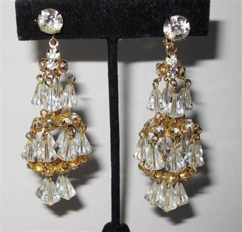 gold tone chandelier earrings wonderful hattie carnegie gold tone chandelier earrings