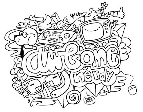Free Doodle Art Coloring Pages Coloring Home Free Doodle Coloring Pages