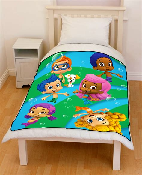 bubble guppies comforter bubble guppies school of fish bedding throw fleece blanket