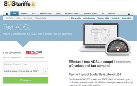 test adsl speed come effettuare il test speed adsl