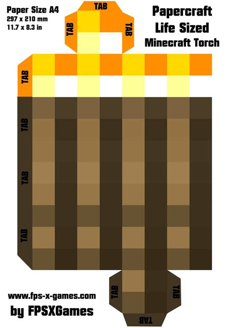 Free Minecraft Papercraft Templates - free coloring pages