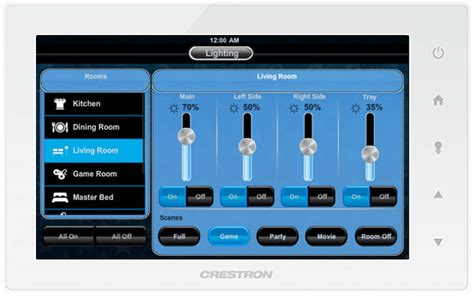 crestron lighting controls global home automation