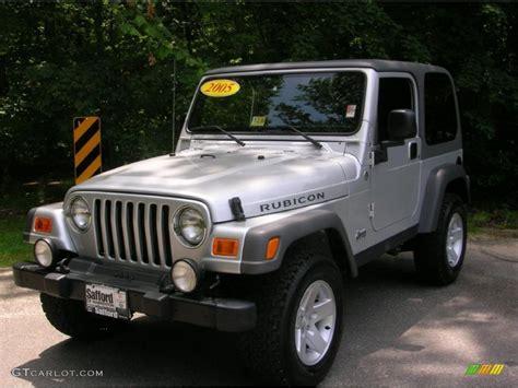 Jeep Rubicon 2005 2005 Bright Silver Metallic Jeep Wrangler Rubicon 4x4