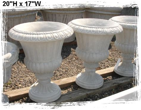 Concrete Urn Planter by Concrete Planters Baja Garden Deck And Patio Decor