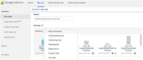 adsense link how to create a new ad unit in google adsense