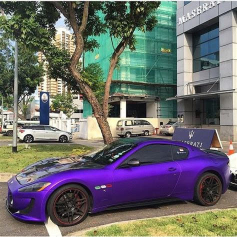 matte purple maserati this purple maserati my rides