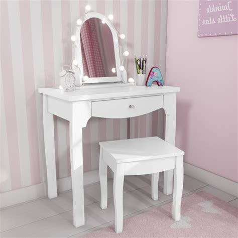 girls white vanity desk white solid wood vanity dressing table with stool and