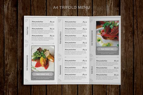 classy food menu 4 illustrator template by luuqas design