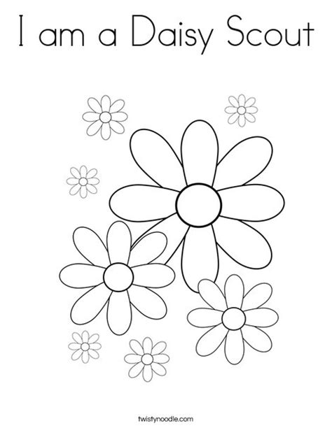 I Am A Daisy Scout Coloring Page Twisty Noodle Free Coloring Pages For Scouts Free