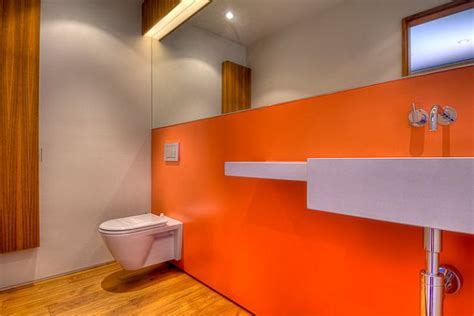 orange bathroom walls pulp up your bathroom with shades of orange