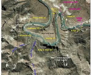 map salt river rafting in arizona