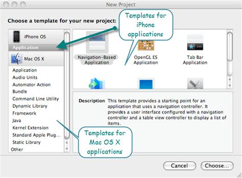 Infinitezest Com Creation Of First Iphone Application Explained Xcode Project Templates Explained