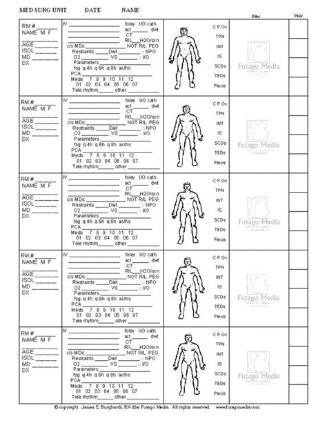 med surg nursing report sheet templates 25 best ideas about report sheet on toe to toe sbar and icu rn