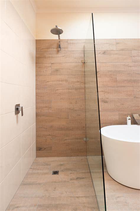 ceramic timber tiles bathroom renovation  belmont