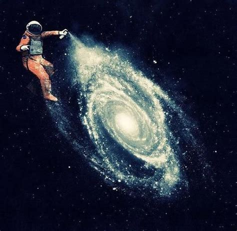 Astronaut Spray Painting A Galaxy I Think That Astronauts
