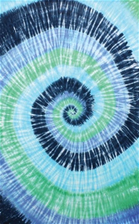 blue spiral tie dye tapestry dorm decoration display